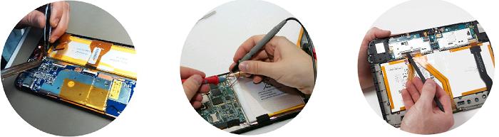 Замена аккумулятора на планшете Asus