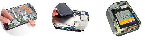 Замена аккумулятора, батарейки планшетных компьютеров: