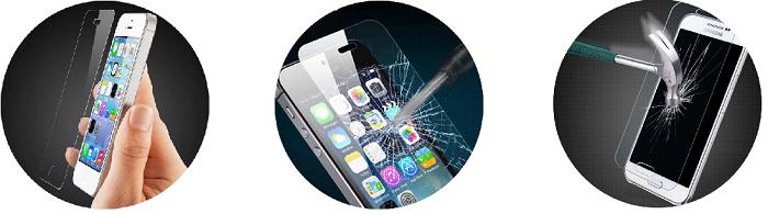 Защитное стекло в подарок при замене экрана