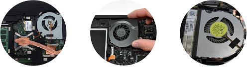 Замена кулера (вентилятора) портативных компьютеров, чистка от пыли